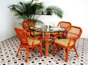 mobilier rattan natural